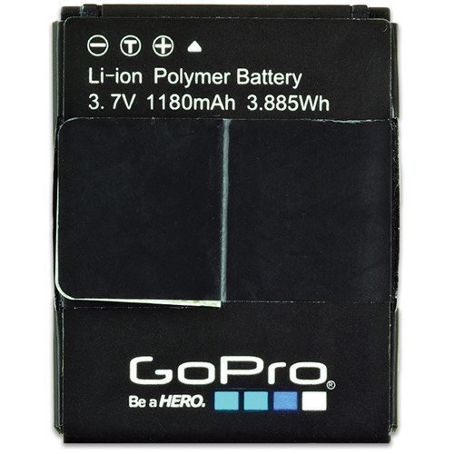 gopro rechargeable battery for hero3 and hero3 ahdbt 302 b h. Black Bedroom Furniture Sets. Home Design Ideas
