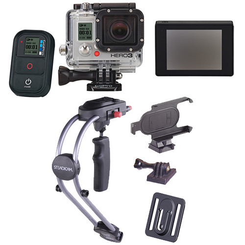 Gopro Hero3 Black Edition Camera With Lcd Touch Bacpac Smoothee Kit
