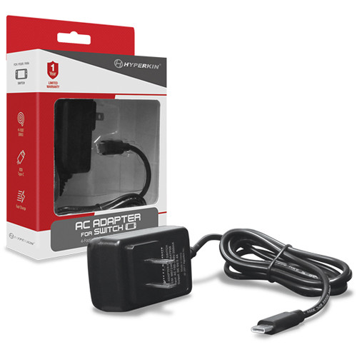 HYPERKIN AC Adapter For Nintendo Switch (4') M07240 B&H Photo