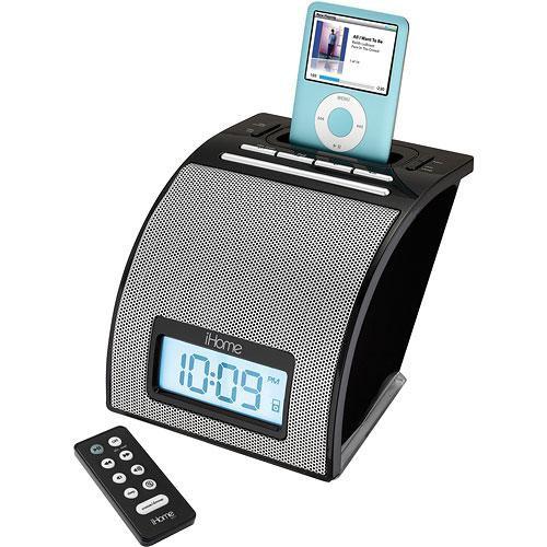 iHome iH11BR iPod Alarm Clock (Black) IH11BR B&H Photo Video