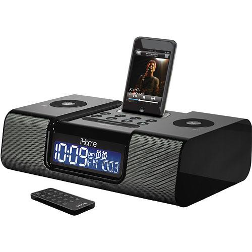 ihome ih9b6 dual alarm clock radio black ih9b6 b h photo video rh bhphotovideo com iHome H6 iHome Clock Radio iPod Dock