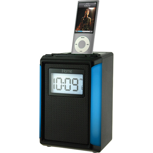 ihome ip40 fm alarm clock radio for iphone or ipod black. Black Bedroom Furniture Sets. Home Design Ideas