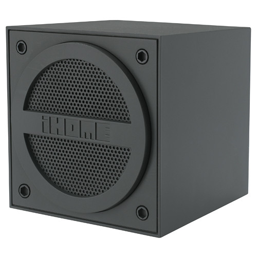 Ihome bluetooth rechargeable mini speaker cube in ibt16gc b h for Ihome speaker