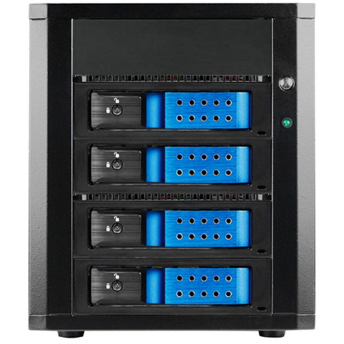 used istarusa 4 x 3 5 bay sas sata 6 0 gb s dage440debl ms. Black Bedroom Furniture Sets. Home Design Ideas