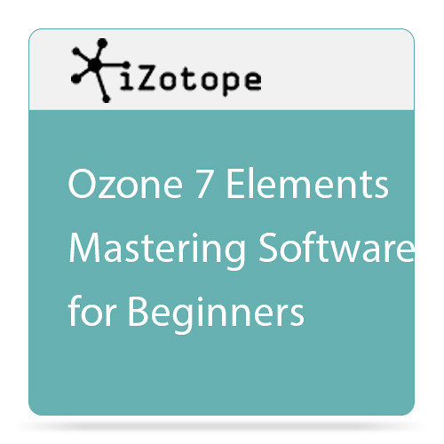 izotope ozone 7 elements mastering software 10 o7e b h photo. Black Bedroom Furniture Sets. Home Design Ideas
