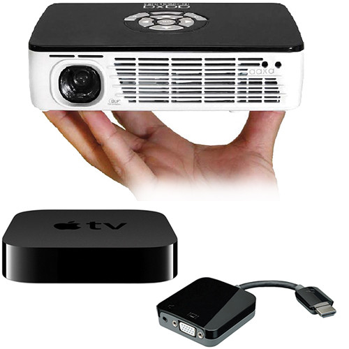 Kanex p300 pico projector bundle with apple tv and kanex for Apple pico projector