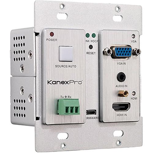 KanexPro HDBaseT VGA & HDMI over CAT6 Wall Plate WP-HDBASETX