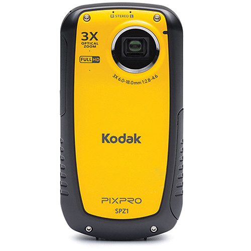 kodak pixpro spz1 waterproof digital camcorder spz1 b h photo rh bhphotovideo com Kodak Zi8 Camcorder Kodak Camcorders On Sale