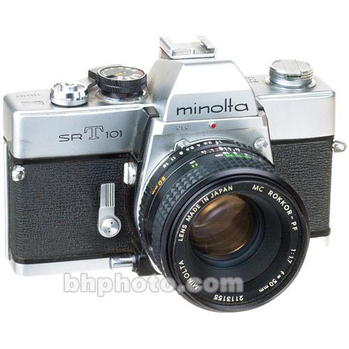 used konica minolta minolta srt 101 35mm slr manual focus b h rh bhphotovideo com Camera Konica Minolta Support Konica Minolta Camera Repair