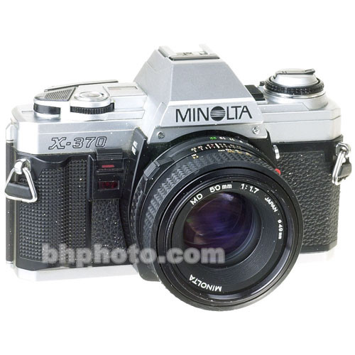 used konica minolta minolta x 370 35mm slr manual focus b h rh bhphotovideo com Manual Focus Digital Camera Zoom R16 Manual
