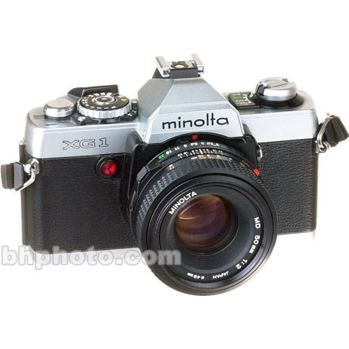 used konica minolta xg 1 35mm manual focus camera with 50mm b h rh bhphotovideo com Konica Minolta Camera Repair Camera Konica Minolta Support