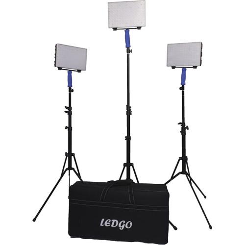 Ledgo 560 On Location Bi Color Led Video 3 Light Kit