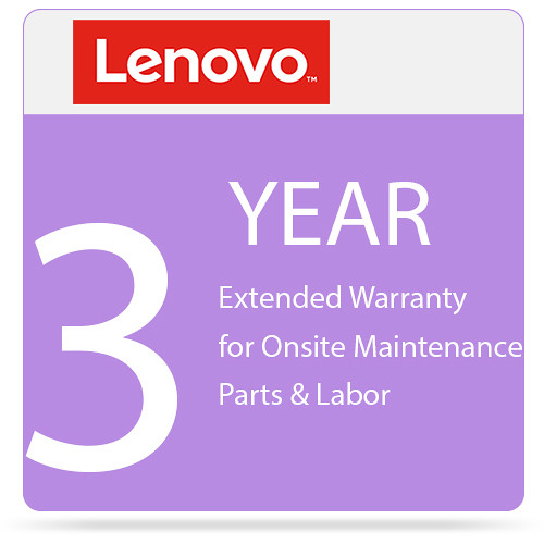 lenovo 3 year extended warranty upgrade for onsite maintenance parts labor from 3