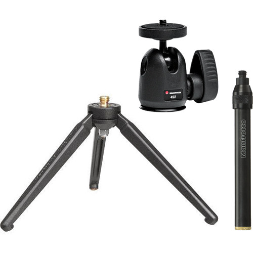 Manfrotto 209,492LONG Tabletop Tripod With Ball Head Kit