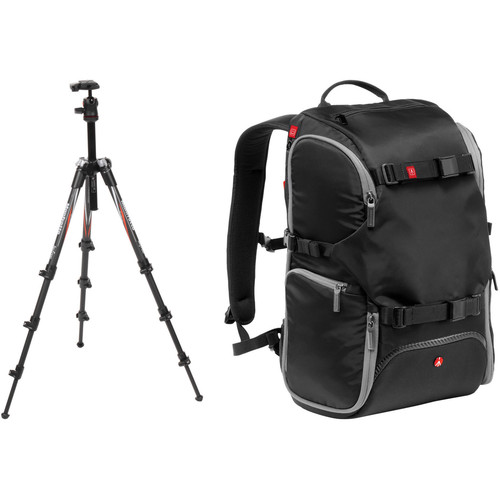 Manfrotto BeFree Compact Travel Carbon Fiber Tripod B&H Photo