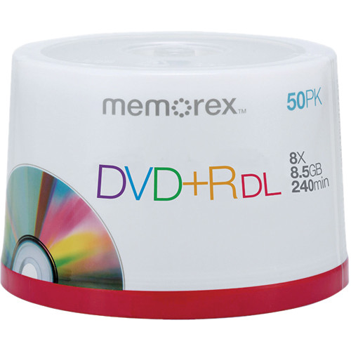 memorex dvd r double layer discs 05732 b h photo video. Black Bedroom Furniture Sets. Home Design Ideas