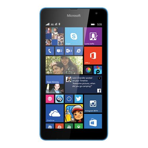 4e33d42d462 Microsoft Lumia 535 RM-1092 Dual SIM 8GB Smartphone (Unlocked, Cyan)