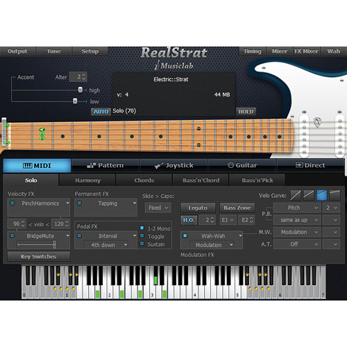 musiclab realstrat 3 virtual instrument 12 41275 b h photo video. Black Bedroom Furniture Sets. Home Design Ideas
