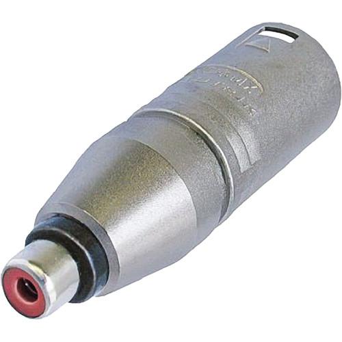 Neutrik 3-Pole XLR Male To RCA Female Adapter NA2MPMF B&H