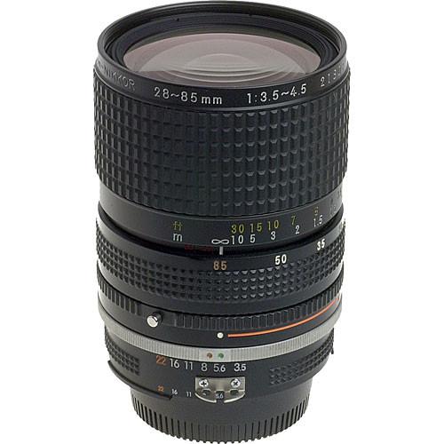 used nikon zoom wide angle telephoto 28 85mm f 3 5 4 5 ais 1443 rh bhphotovideo com Best Zoom Lenses for Nikon best nikon manual zoom lens