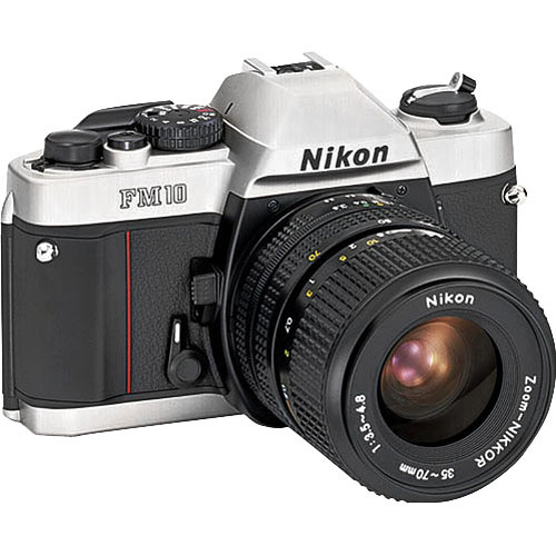 Used Nikon FM10 35mm SLR Camera with 35-70mm Lens 1689 B&H Photo