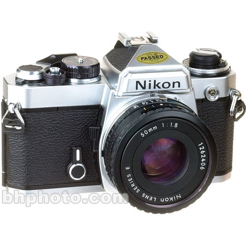 used nikon fe 35mm slr manual focus camera chrome with 50mm rh bhphotovideo com Nikon Red Camera Nikon Digital SLR Comparison Chart