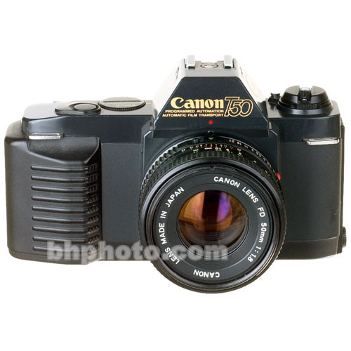 used canon t50 35mm slr manual focus camera body with 50mm b u0026h