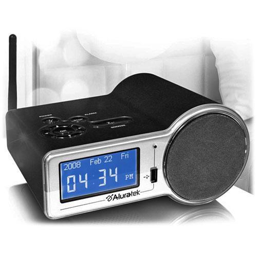 aluratek airmm01f internet radio alarm clock with built in. Black Bedroom Furniture Sets. Home Design Ideas