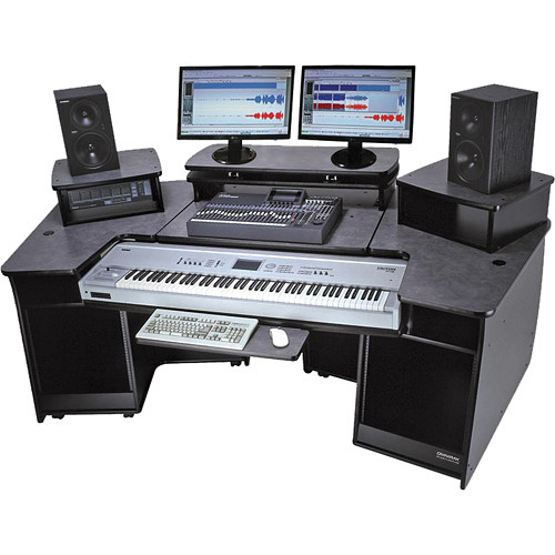 omnirax f2 keyboard composing mixing workstation f2 b b h photo. Black Bedroom Furniture Sets. Home Design Ideas