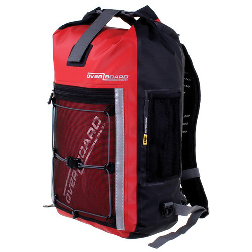 OverBoard Pro-Sports Waterproof Backpack (30L, Red) OB1146-R B&H