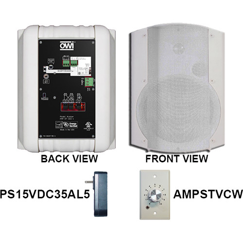 Volume Sound Control Panel : Owi inc amp bt wvc two way quot dual