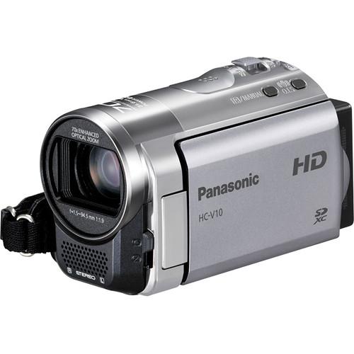 Panasonic HC-V10 Entry HD Camcorder (PAL, Red)