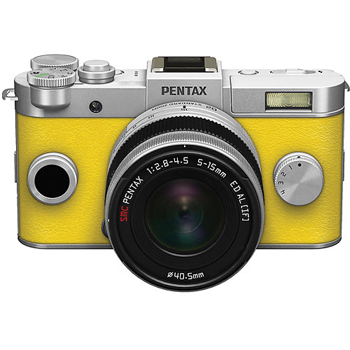 Pentax Q-S1 Mirrorless Digital Camera with 5-15mm Lens (Bright Silver ...