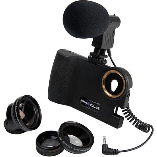 Smart Phocus 3 Lens Bundle + Shotgun Mic for iPhone 5 B&H