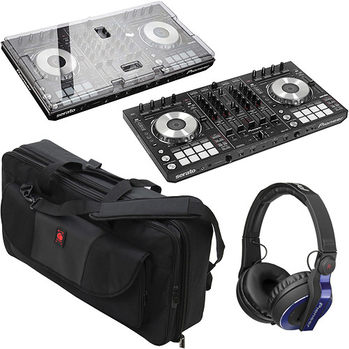pioneer ddj sx serato software dj controller with cover and b h. Black Bedroom Furniture Sets. Home Design Ideas