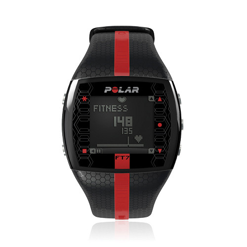Polar FT7 Training Computer Watch (Black/Red) 90051049 B&H ...