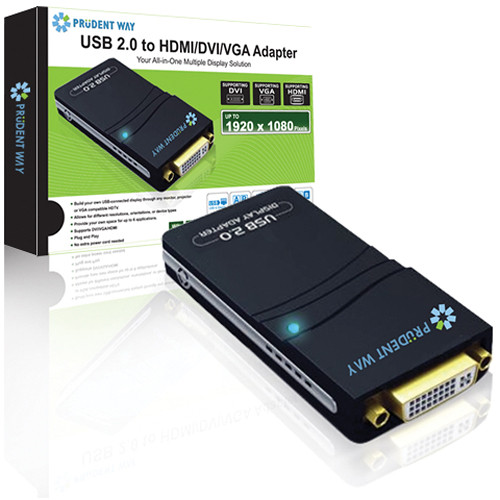 Usb 2 0 To Vga Adapter Mac Cable Hdmi Macbook Air Fnac Micro Sd Adapter Nedir Intex Adapter B Amazon: Prudent Way USB 2.0 To HDMI/DVI/VGA Adapter PWI-USB-HDV B&H
