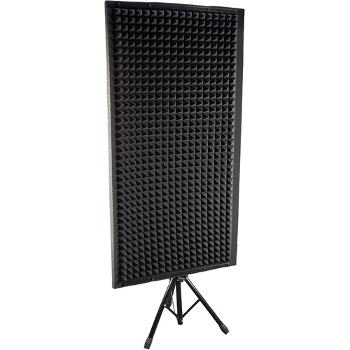 pyle pro psip24 sound absorbing wall panel studio foam acoustic isolation u0026 dampening wedge with stand