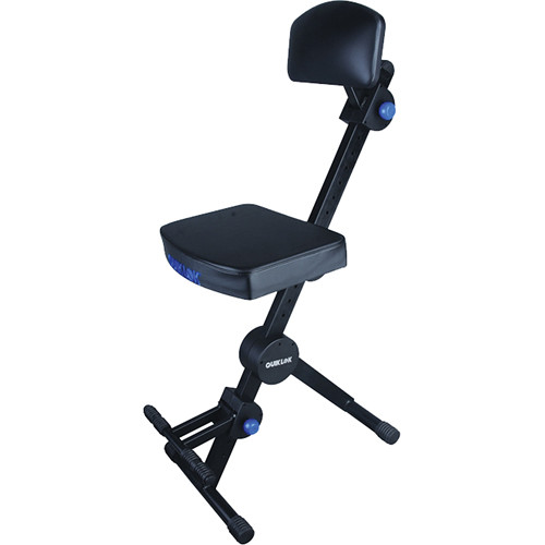QuikLok Adjustable Musiciansu0027 Stool with Back and Footrest (Black)  sc 1 st  Bu0026H & QuikLok Adjustable Musiciansu0027 Stool with Back and DX-749 Bu0026H islam-shia.org