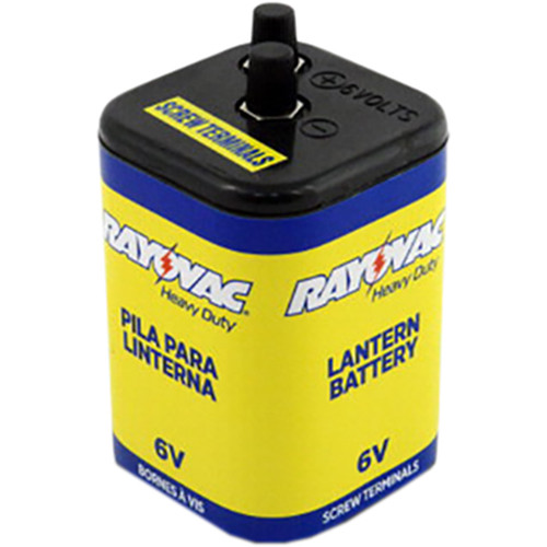 RAYOVAC 6V Alkaline Heavy Duty Lantern Battery Screw Terminals