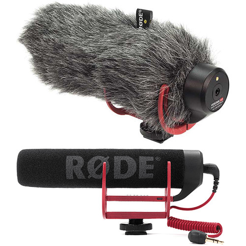 Rode VideoMic GO On-Camera Shotgun Microphone and DeadCat VMP