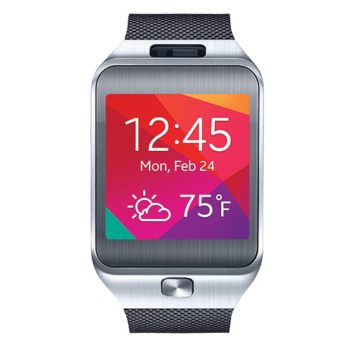 samsung gear 2 smartwatch charcoal black sm r3800vsaxar b h. Black Bedroom Furniture Sets. Home Design Ideas