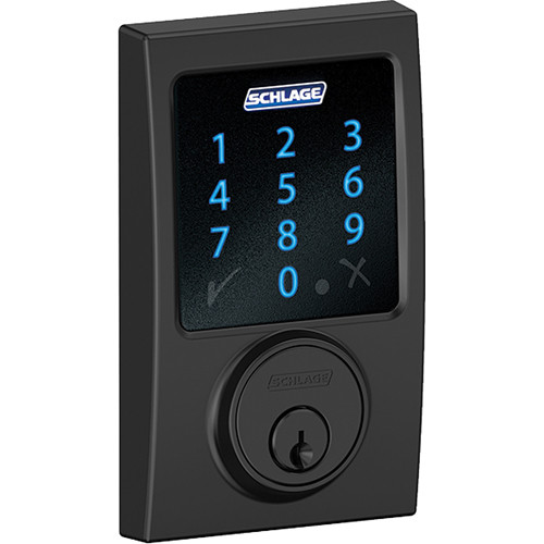 Schlage Connect Touchscreen Deadbolt With Century Be469