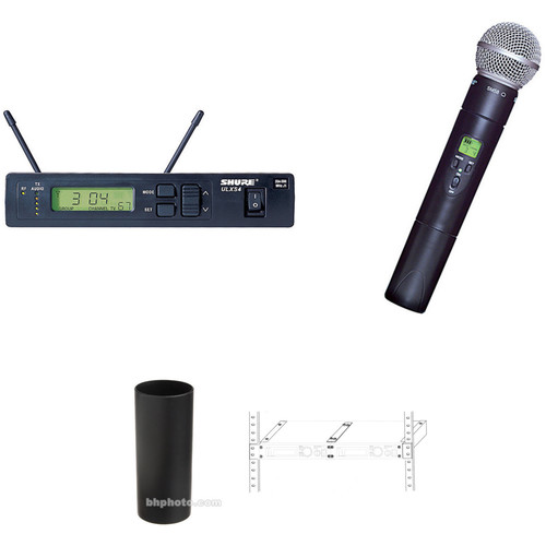 shure ulx s sm58 wireless handheld mic system kit b h photo. Black Bedroom Furniture Sets. Home Design Ideas