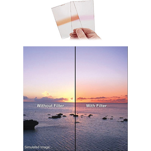 Fotodiox Pro 130mm Graduated Sunset Orange Filter fits Cokin X-Pro Series Filter Holder XL