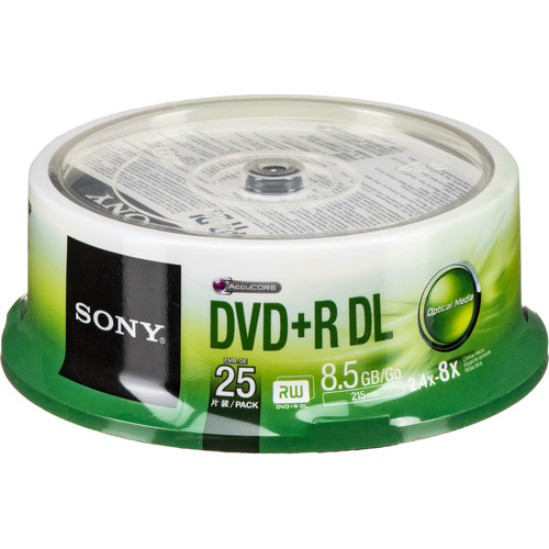 sony dvd r 8 5 gb dual layer recordable discs 25dpr85sp us b h. Black Bedroom Furniture Sets. Home Design Ideas
