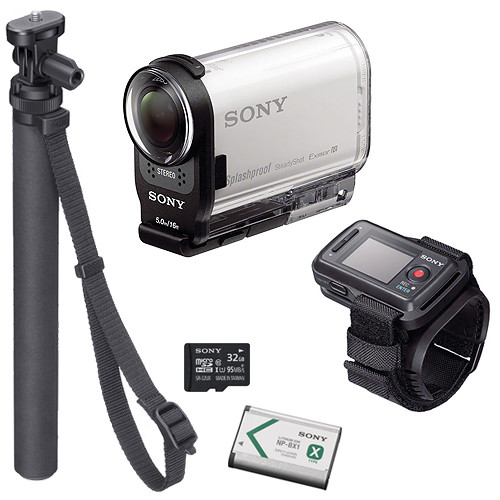 sony hdr as200v hd action cam beginners kit with live view b h. Black Bedroom Furniture Sets. Home Design Ideas