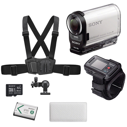 sony hdr as200v hd action cam winter kit with live view remote. Black Bedroom Furniture Sets. Home Design Ideas