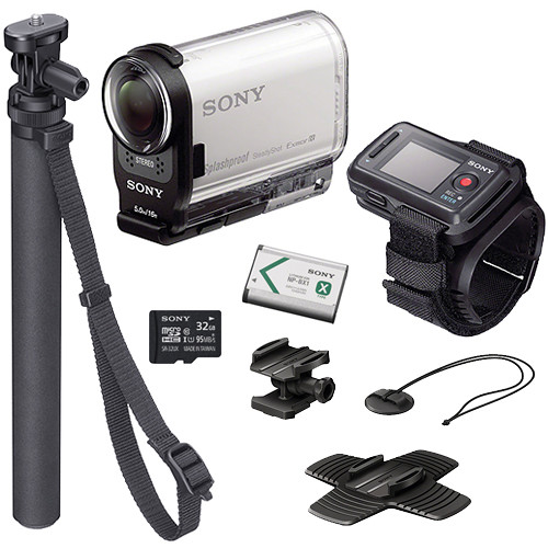 sony hdr as200v hd action cam summer kit with live view remote. Black Bedroom Furniture Sets. Home Design Ideas