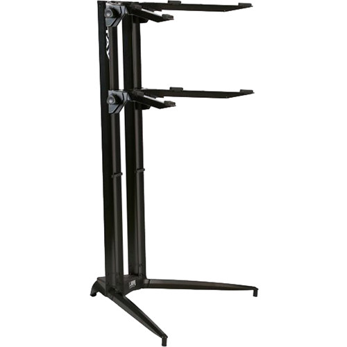 stay piano series 44 double tier keyboard stand black stay85. Black Bedroom Furniture Sets. Home Design Ideas